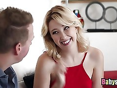Blonde Teen Samantha Rone Banged Hard On Sofa By Lucky Stud