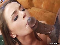 Big black cock For Horny Brunette Teen