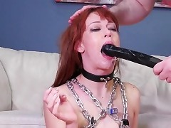Teenie strap on punishment first time Slavemouth Alexa