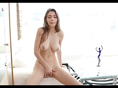 Busty Teen Mila Azul Finger Her Tight Pussy