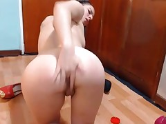 Horny Teen on Floor