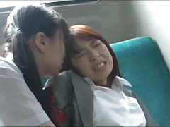 Asian Schoolgirl Has Fun with Tutor on Bus