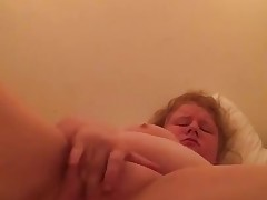 My chubby niece toying with her meaty pussy and spunking