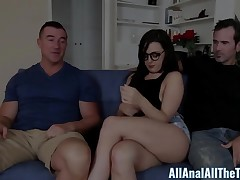 Teen Whitney Wright Makes BF Watch Her Get Booty Fucked