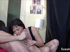 German Cougar Seduce Massage Teen to Fuck her Anal