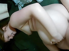 Fat promiscuous gf takes a cock in her bootie
