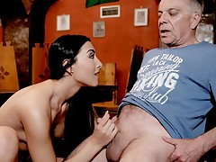 DADDY4K. Hump in the bar with the boyfriend's father