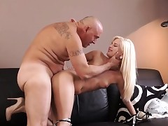 Daddy game and elderly man threesome two girls Horny towheaded