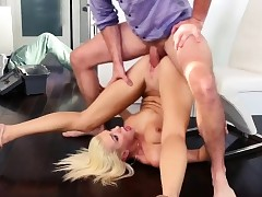 Tiffany Watson fucked up by a fat hard dick of Kyle