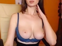 Angelina Kitten Big Milk cans SinfulWebcams.Com