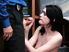 Police girl fucked first-ever time LP officer laid down the