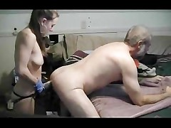 rope on faux-cock fist