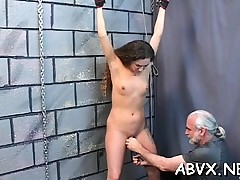 Wicked drubbing and sex in dilettante bondage video