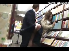 Japanese College girl Public Fucky-fucky In The Bookstore