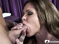 During her massage, she will get penetrated stiff