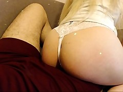 Teen in Sexy Panties Performs A Bedroom Blowjob