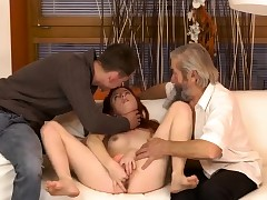 Brunette tongues and fucks old man hottie the senior nick