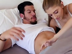 Alyce Anderson powerful sex in the bed with dudes big salami