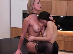 Molten Cougar and her furry daughter having some fun