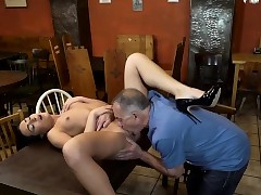 DADDY4K. Hotty Anna Rose let old lover spread her wet...