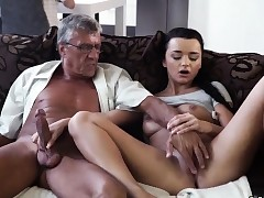 Mom blowjob friend's compeer good-sized tits first-ever time What