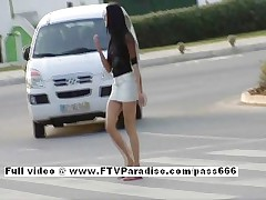 Suri from ftv babes fabulous dark-haired babe public draining